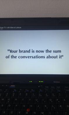 God strategisk kommunikation kan forbedre en virksomheds omdømme. En afsenders brand er nemlig ikke bannerannoncer, Facebooksider eller YouTube-videoer, men den OMTALE (og perception), der finder sted om virksomheden/brandet. Det skal vi arbejde rigtig meget med i faget 'Sociale medier i virksomhedens kommunikation' på DMJX (august-september 2013). #kom2.0aug13