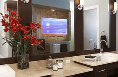 Perfect As A Bathroom Tv Mirror Above Vanity In Dressing Room Or Spa These Beautiful Waterproof Tvs Are Addition To Your