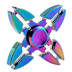 Fidget+spinners+Hand+Spinner+Speeltjes+Vier+Spinner+Metaal+EDCStress+en+angst+Relief+Kantoor+Bureau+Speelgoed+Relieves+ADD,+ADHD,+Angst,+–+EUR+€+9.69