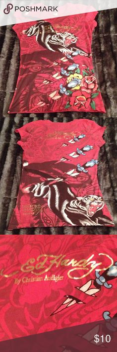 Ed Hardy Shirt Excellent condition!! Super cute on!! Ed Hardy Tops Tees - Short Sleeve