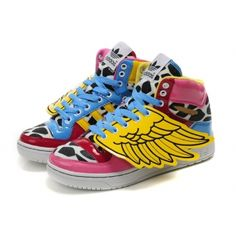 pretty nice 490fa 56d83 Adidas Originals Jeremy Scott x JS Wings Pink Leopard Women s Running Shoes  adidas shoes india