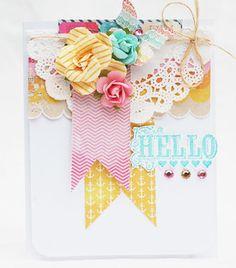 Hello Card by agomalley at Studio Calico