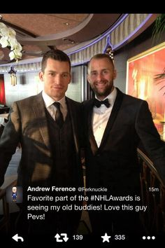 Andrew Ference and Rich Peverly