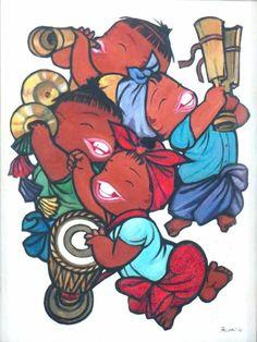 Paw Oo Thett Cute Love Cartoons, Thai Art, Realistic Paintings, Burmese, Homeland, Traditional Art, One Pic, Festivals, Peacock