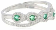 Sterling Silver Paisley Diamond Ring (1/6cttw, I-J Color, I2-I3 Clarity), Size 7