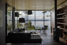 We're filled with admiration for this project: a 2,800-square-foot retreat in the Pacific Northwest by MW/Works Architecture & Design. There's