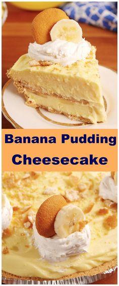 Banana Pudding Cheesecake will make you feel things you've never felt befor. This Banana Pudding Cheesecake will make you feel things you've never felt befor.This Banana Pudding Cheesecake will make you feel things you've never felt befor. Best Banana Pudding, Banana Pudding Cheesecake, Banana Pudding Recipes, Savory Cheesecake, Banana Pudding Cupcakes, Pudding Ideas, Banana Dessert Recipes, Classic Cheesecake, Homemade Cheesecake