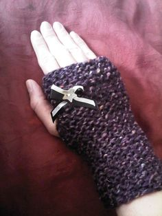 Lovely Chunky Knit Fingerless Mittens by CherylsCreativeChaos, £10.00