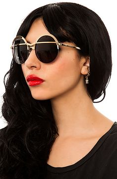 The Coco and Breezy Sunglasses Gold N Heart - Karmaloop.com