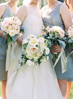 Blush and white bouquets   Graham Terhune