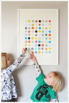 DIY Circle Punch Art - We love this project for all ages that makes great art from afar and up close. You'll need a circle punch and scrap papers. Diy For Kids, Crafts For Kids, Arts And Crafts, Paper Crafts, Diy Crafts, Paper Art, Circle Art, Circle Punch, Hole Punch