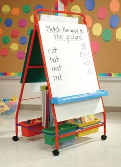 Copernicus Primary Teaching Easel - includes 4 tubs & casters for mobility! - CLASSROOM DIRECT