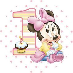 Imprimibles de Minnie primer año 11.