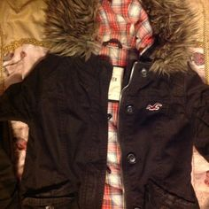 Brown Hollister Bomber Jacket/ Coat Used like new, only worn several times Hollister Jackets & Coats