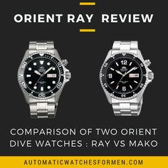 Orient Ray is very similar to its older brother, the Orient Mako. Both are dive watches with similar dimension, thickness, and movement.  But what sets them apart? The Ray has a sportier dial/watch face design. It is more of a traditional dive watch compared to the Mako.