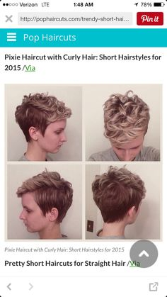 Side swept and curled pixie