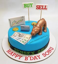 Share market theme customised cake for stock brokers birthday in Pune Cake Home Delivery, Avengers Birthday Cakes, Cake Design For Men, Cake For Boyfriend, Wedding Cake Centerpieces, Bithday Cake, Cake Frosting Recipe, Cake Stock, Individual Cakes