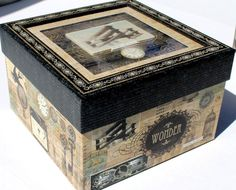 Details about  pUNCH sTUDIO Choice of Square Shadow Box - Vintage Hot Air Balloon Airplane