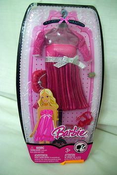 Barbie Doll Dress Outfit Clothes New SEALED Package Pink Red 212 | eBay