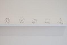 Five platonic solids by Peter Trevelyan