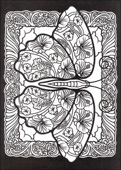 Fanciful Butterflies Stained Glass Coloring Book | Additional photo (inside page)