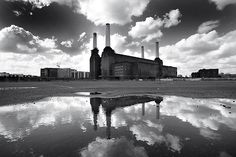 "I love my local Power Station. ""Battersea Power Station by Christophe Carlinet, London, 2008 London Landmarks, London Pubs, Best Of Pink Floyd, Pink Floyd Album Covers, Battersea Power Station, Places In England, Station 1, Art Deco Stil, Abandoned Mansions"