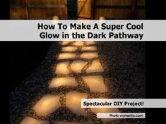 Glow In The Dark Pathways Cool Glow, Outdoor Projects, Garden Projects, Home Projects, Pathway Lighting, Garden Paths, Garden Landscaping, Cozy House, Home Hacks