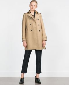 Image 1 of WATER REPELLENT COTTON RAINCOAT from Zara