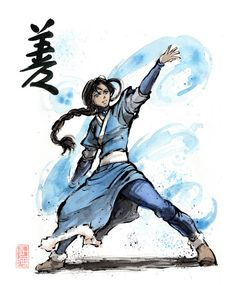 Katara with calligraphy Goodness by MyCKs