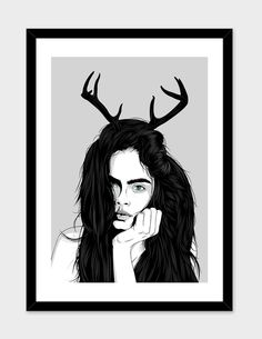 """""""Cara"""", Numbered Edition Fine Art Print by Roland Banrevi - From $25.00 - Curioos"""