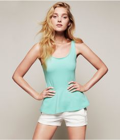 ZIP BACK PEPLUM TANK | Express