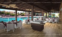 Restaurante Arrocería en República Dominicana  Proyecto internacional y realización integral del mismo en Republica Dominicana.  www.maninhosteleria.es  Teléfono: +34 96 382 6558  #render #project #maninhosteleria #restaurant #design #style #seaside #decoration #industrial #kitchen #proyecto #hosteleria #restaurante #diseño #obra #decoracion #exterior #interior #cocina #industrial #cad #3d #3dmax #rendering #vray #photoshop #virtualreality #vr