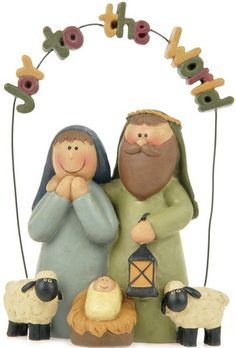 """Joy to the World"" Garland Nativity by Blossom Bucket - from Deseret Book"