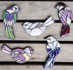 Billedresultat for blue wren mosaic Mosaic Garden Art, Mosaic Tile Art, Mosaic Artwork, Mosaic Diy, Mosaic Crafts, Mosaic Glass, Mosaic Ideas, Mosaic Mirrors, Stained Glass Birds