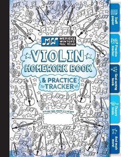 Violin Homework Book & Practice Tracker #violinlessonsforkids #learnviolin #violinkids