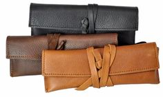 Buttery Soft Italian Leather Pencil Pouch