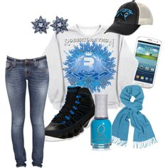 """Let's Go Panthers - Jordan IX Women's"" by robertoraymon on Polyvore"