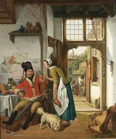 """Painting """"Interieur van een herberg"""" by Abraham van I Strij - www.schilderijen.nu"""