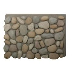 River Rock Outside Corner – Multicolor - All For Garden Faux Rock Panels, Faux Stone Panels, Faux Rock Siding, Stone Siding, River Rock Landscaping, Landscaping With Rocks, Backyard Landscaping, River Rock Crafts, Free Standing Electric Fireplace