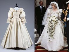 The most expensive wedding dress in the world was designed by David and Elizabeth Emmanuel for Princess Diana to wear it on her wedding in 1981 with Prince Charles. Description from uniquefacts.net. I searched for this on bing.com/images