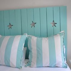 Stars of the Sea Shutter Headboard by Jane Coslick.