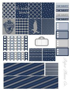 Printable Harry Potter Ravenclaw Planner Stickers
