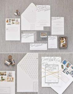 Wedding Invitation Suite - Buffet Script used as headliner font.