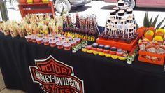 Mesa de dulces Harley Davidson