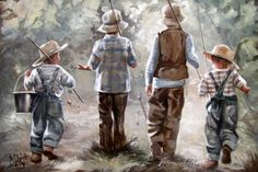 - On a fishing trip - House Of Maria ZA Canvas Art Prints, Art Painting, Fine Art Painting, Amazing Art, Original Fine Art, Painting, Beautiful Paintings, Art, South African Artists