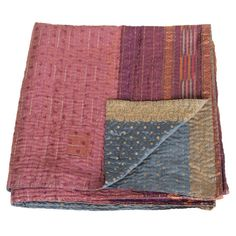 kantha silk sari blanket jara_ethical