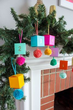 DIY Paper Ornament Advent Calendar