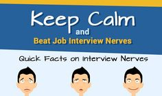 How to Calm Job Interview Nerves #infographic