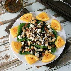 Arabic Spinach Salad Salad Bar, Soup And Salad, Salad Recipes, Healthy Recipes, Dishes Recipes, Paleo Food, Savoury Recipes, Appetizer Recipes, Appetizers