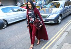 Burgundy Crush, London Fashion Week 2014